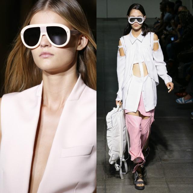 Модные солнцезащитные очки 2016 в белой оправе