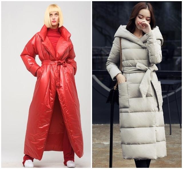 Пуховики-пальто