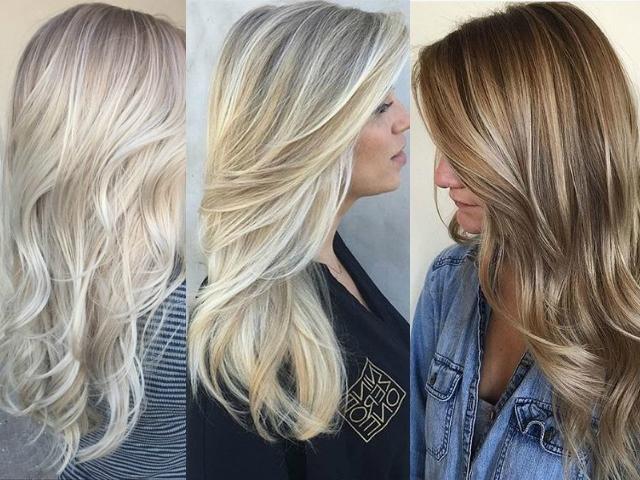Модное окрашивание волос блонд фото