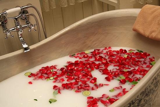 розовая ванна для похудения