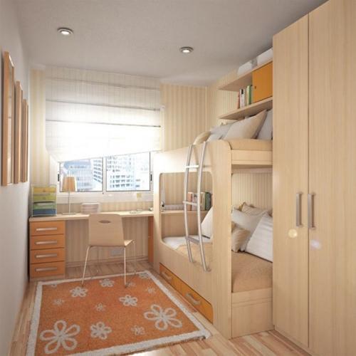 стильная узкая комната