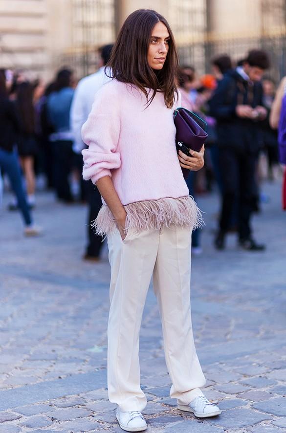 Street style: как носить пастельные цвета