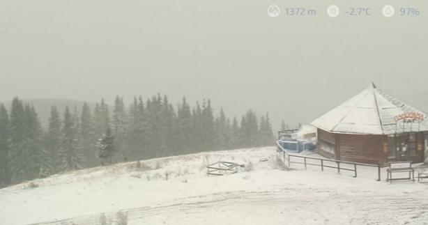 Вгосударстве Украина выпал 1-ый снег