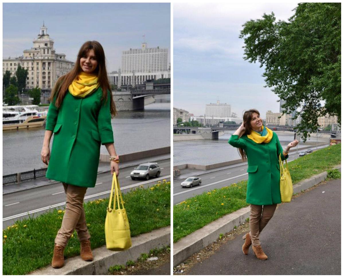 С чем носить шарф зеленого цвета