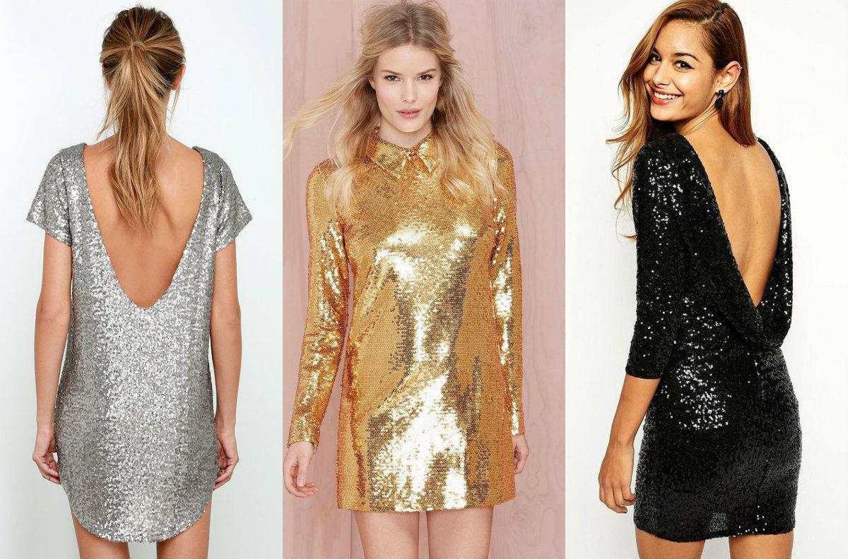 Блестящее платье аксессуары