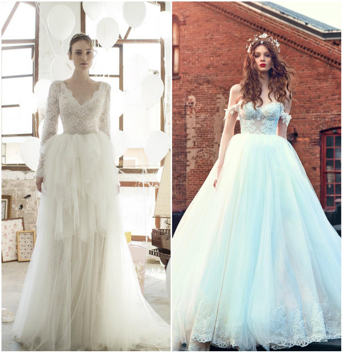 Верх свадебного платья из фатина