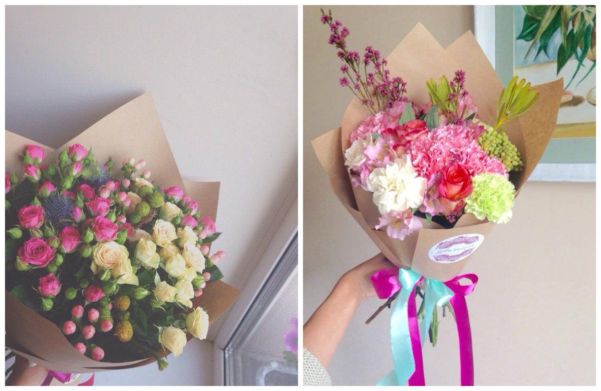 Как сделать букет из цветов своими руками мастер 919