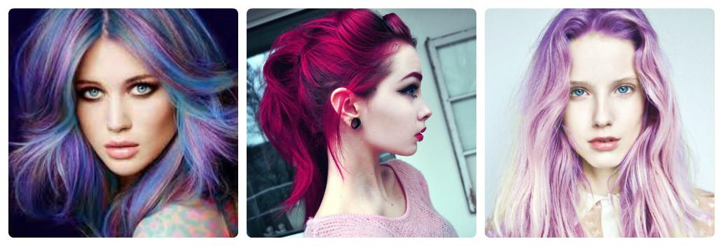 Как покрасить тёмные волосы в яркий цвет