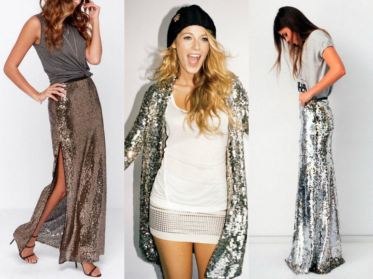 Платье блестящее с чем носить