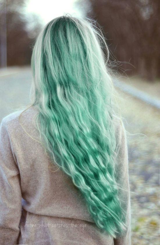 зеленые волосы фото