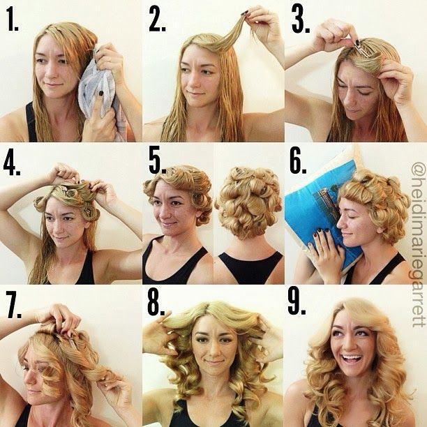 Как сделать локоны на мокрые волосы на ночь