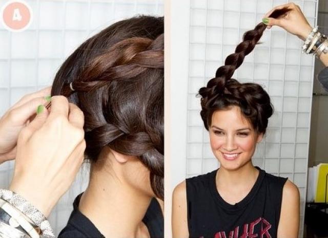 коса корона модное плетение