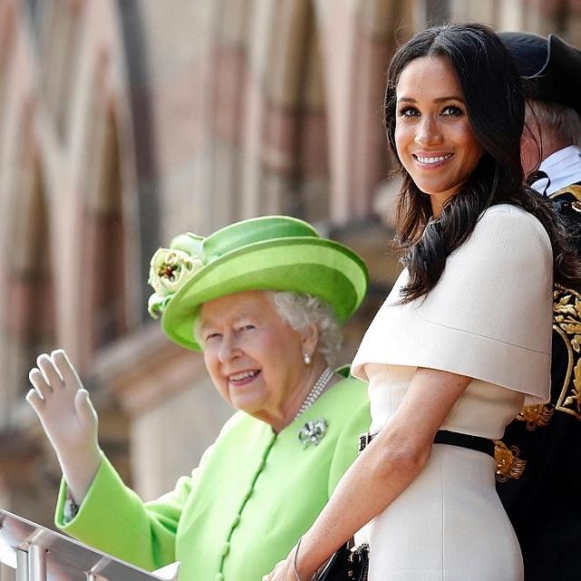 Меган Маркл и Елизавета II