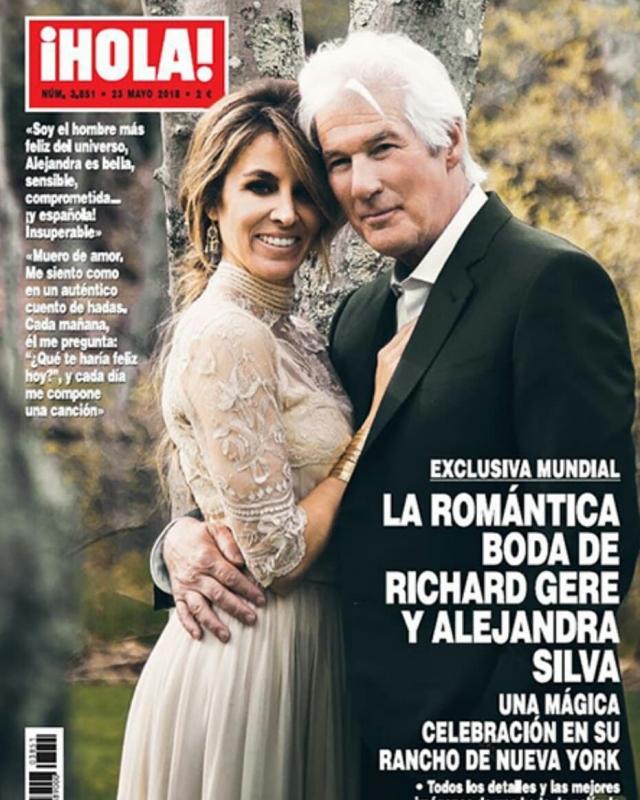 Ричард Гир женился в третий раз