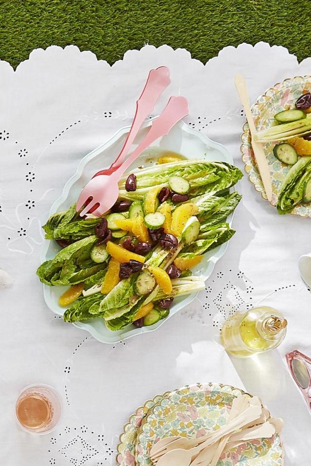 Салат с апельсинами и оливками