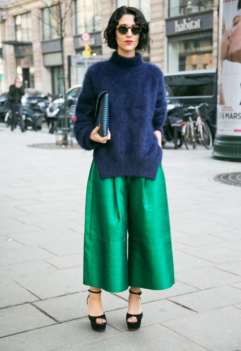 Женские брюкикюлоты2017 фото модных образов с чем