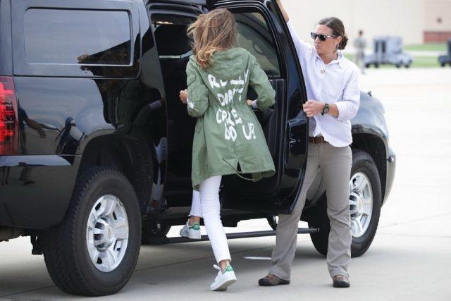 Мелания Трамп в куртке Zara