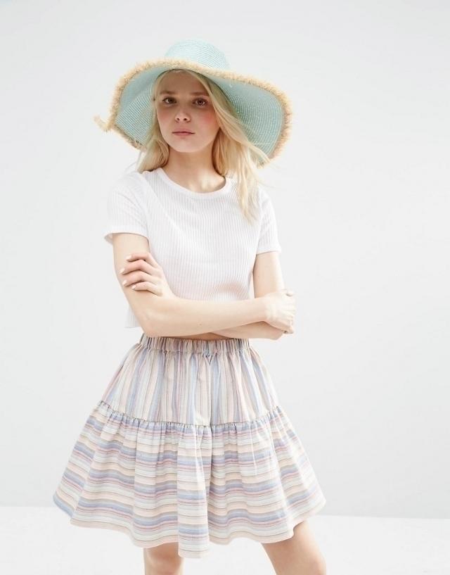 5ef1366d670 Модные шляпа на лето 2016 шляпа сбахромой