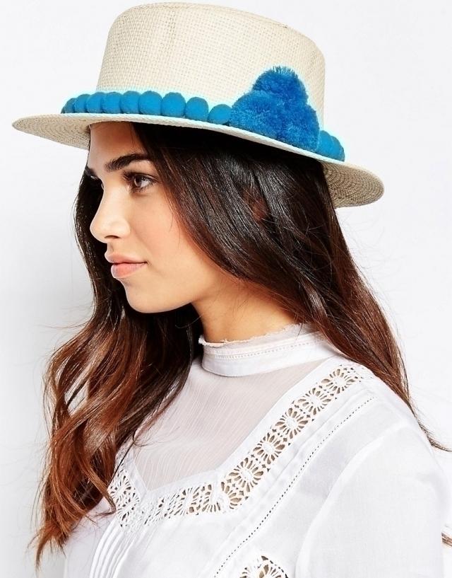 Модные шляпа на лето 2016 шляпа  спомпоном
