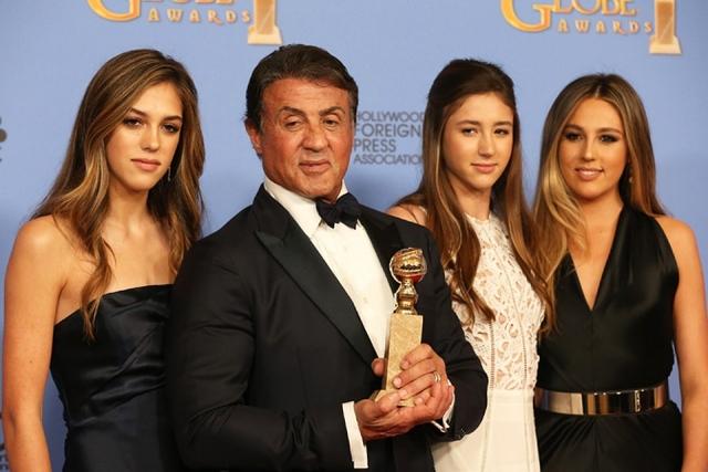 Сильвестр Сталлоне и его дочки