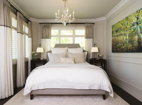 стильная спальня фото