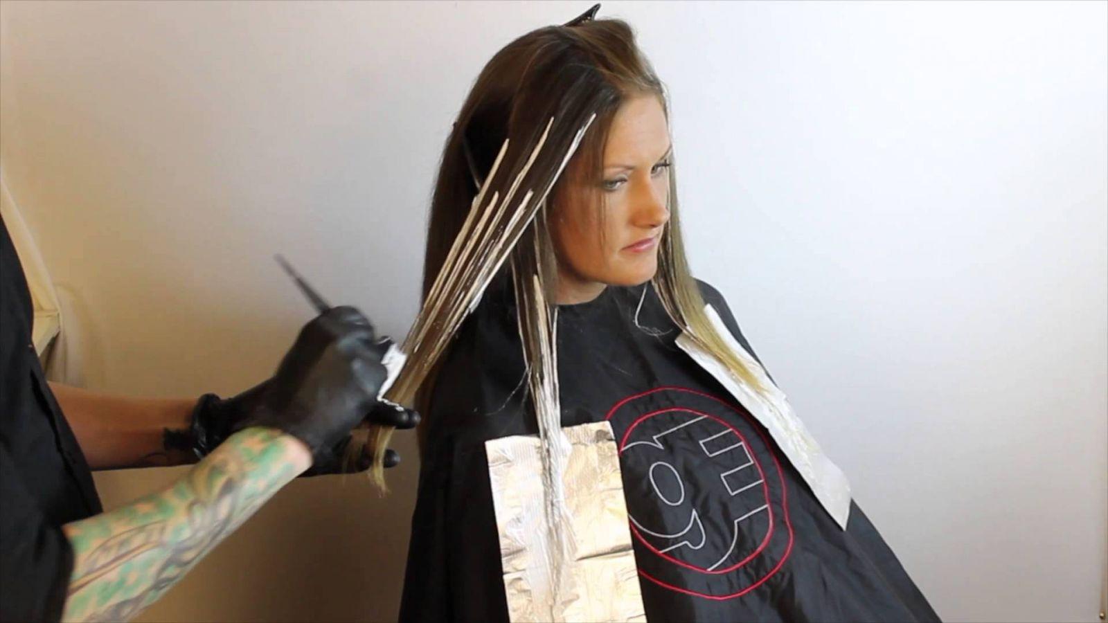 Как окрашивают волосы омбре в домашних условиях 60