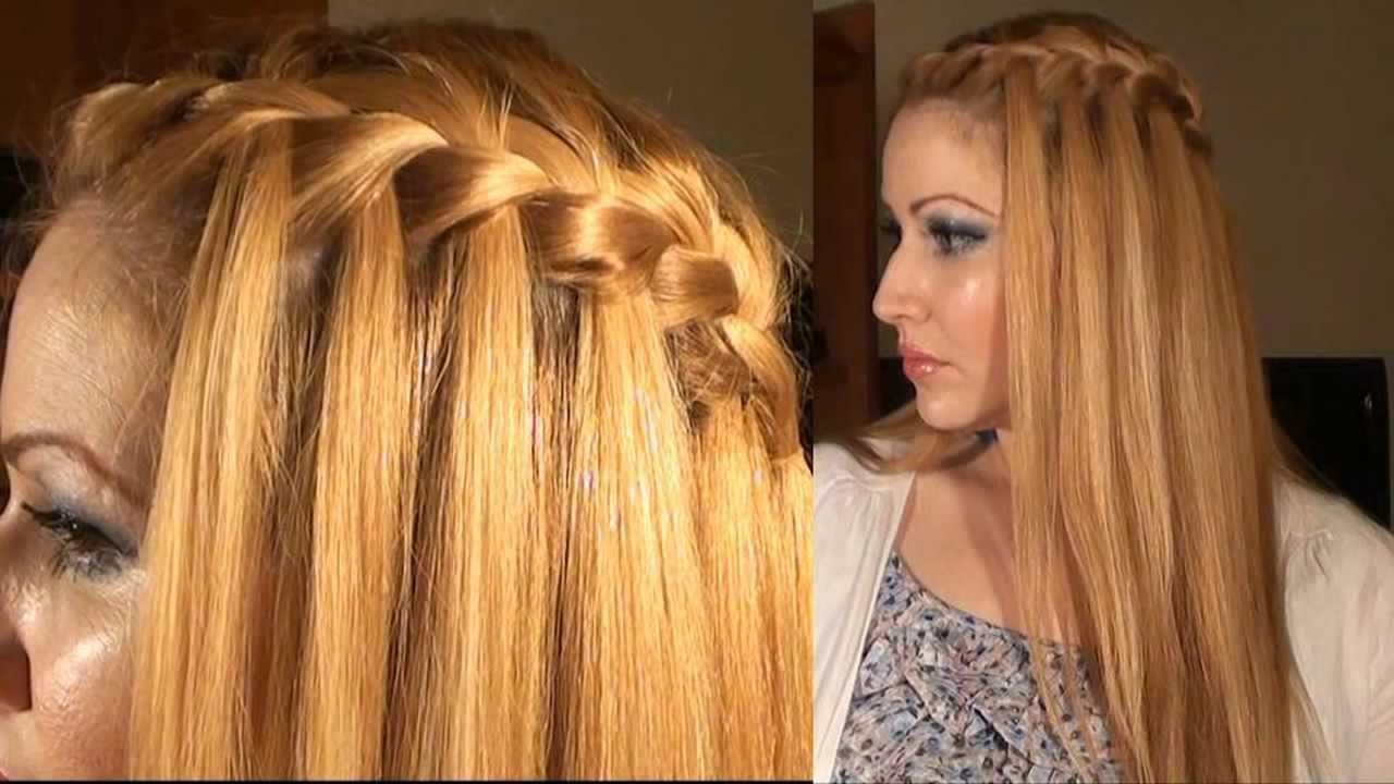 Прически заплетенные распущенные волосы