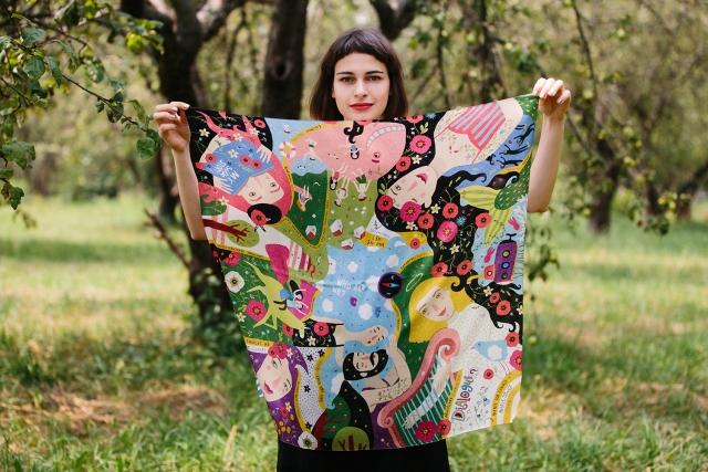 шелковые платки фото купить украина