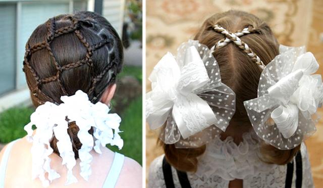 Прически на 1 сентября и День знаний: самые красивые идеи на длинные и средние волосы + прически с бантами (фото)