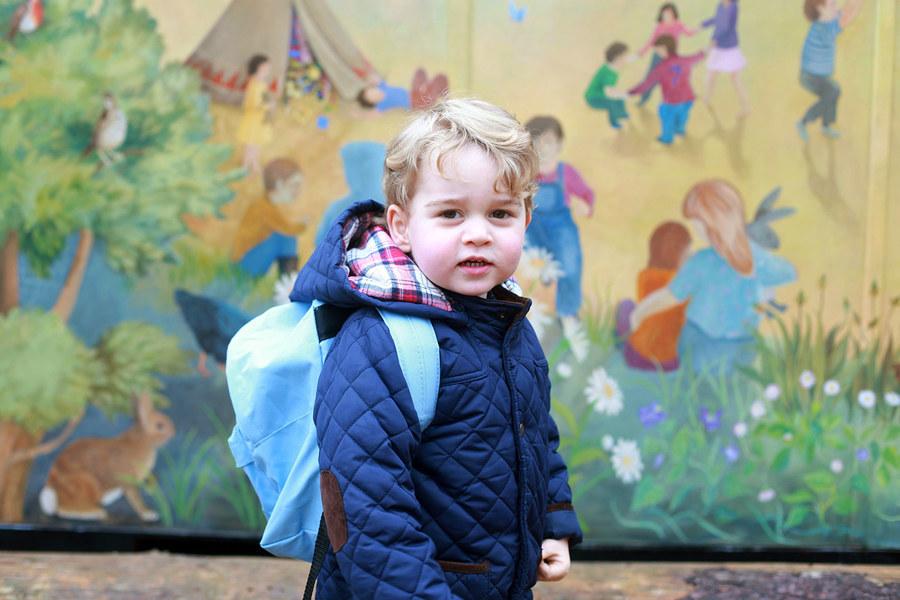 принц Джордж в садике