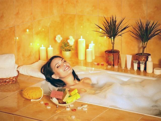 душистую пенную ванну