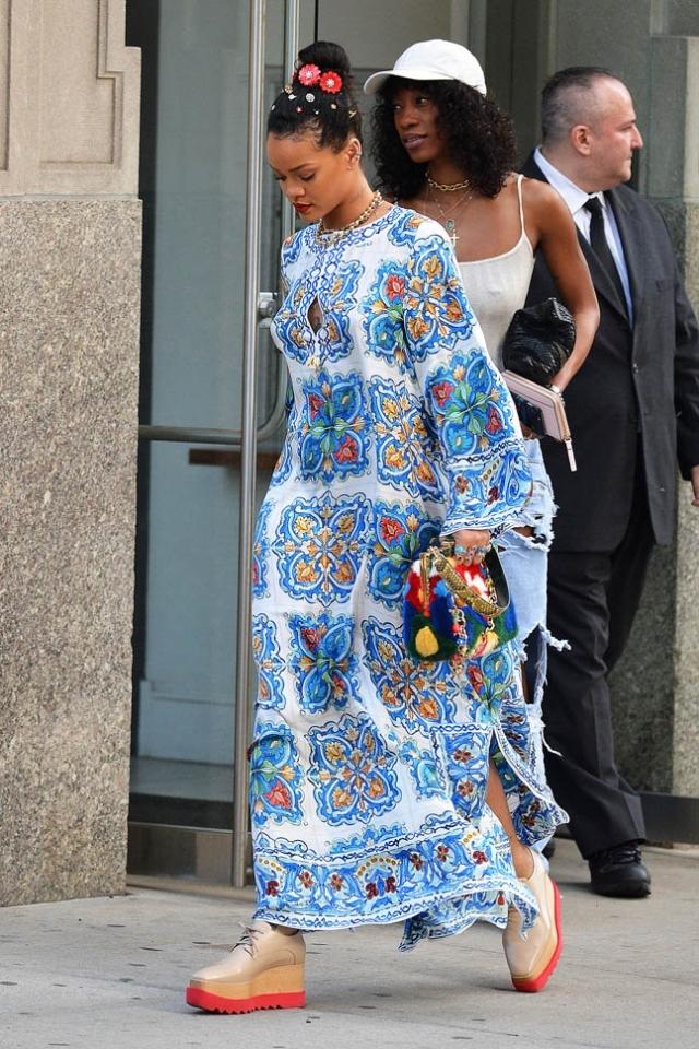 Модные платья лета 2016 Длинное платье Рианна