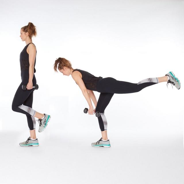 Становая тяга на одной ноге