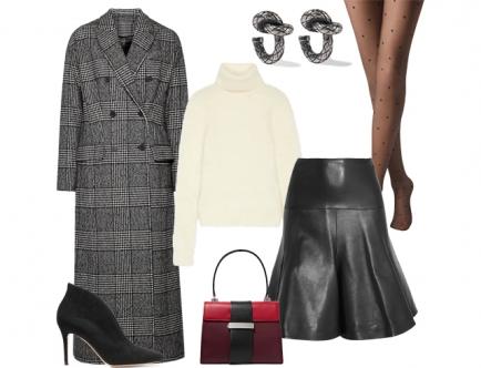 Кожаная одежда - важнецкий разновидность получи зиму да осень. Носи ее из объемными свитерами грубой вязки, ботильонами равно длинными классическими бурнус в модную английскую клетку.