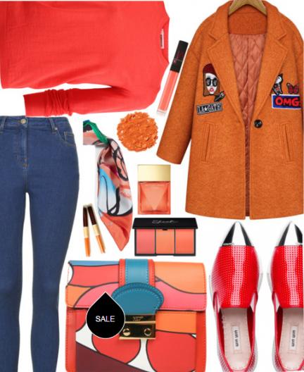 Оранжевое пальто - не приговор, а хит сезона. Тем более, что теплый насыщенный терракотово-оранжевый оттенок будет особенно актуален осенью 2016. Итак, с чем носить оранжевое пальто весной? Алый и синий отлично сочетаются с оранжевым. Попробуй лаковые красные броги или любые другие туфли в мужском стиле на низком каблуке, обычные укороченные джинсы или брюки, красный джемпер или рубашку. Добавь на шею яркий платок-каре или галстучный платок и обзаведись ярким клатчем. Образ готов!