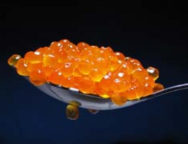Красная икра с галантином из судака (банкетное блюдо)