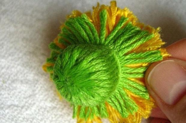 Цветы из ниток своими руками - Изготавлимаем цветы