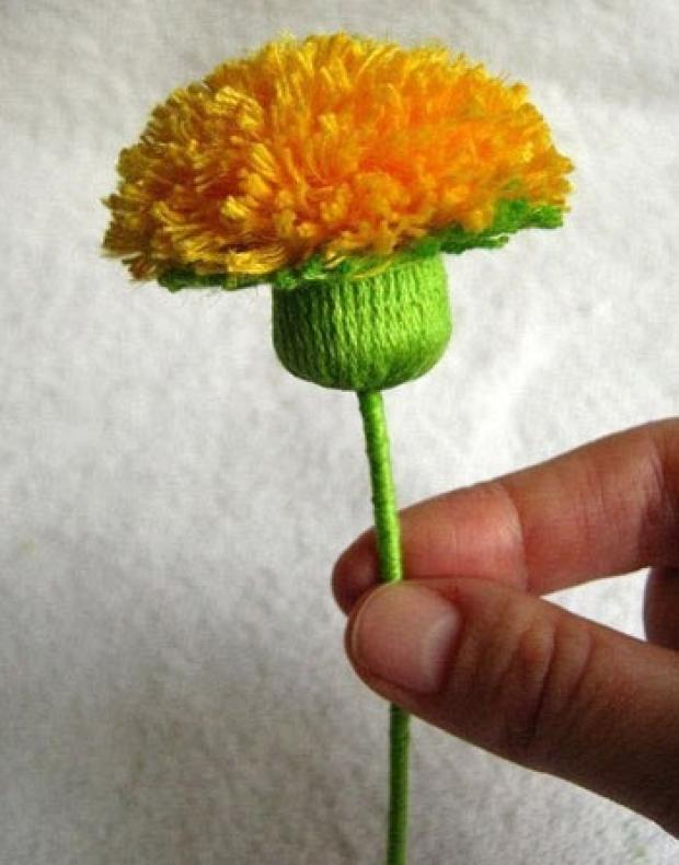 """Цветы из ниток и проволоки """" Для тех, кто почувствовал в себе строителя"""