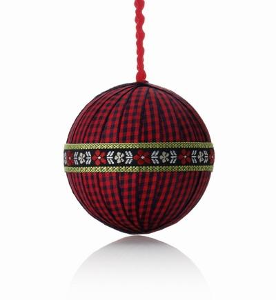 вязанные шары на елку