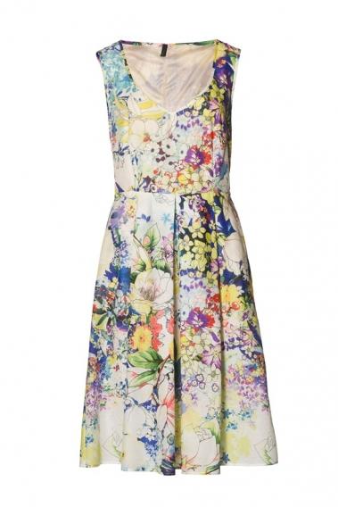 С чем носят платье в цветочек