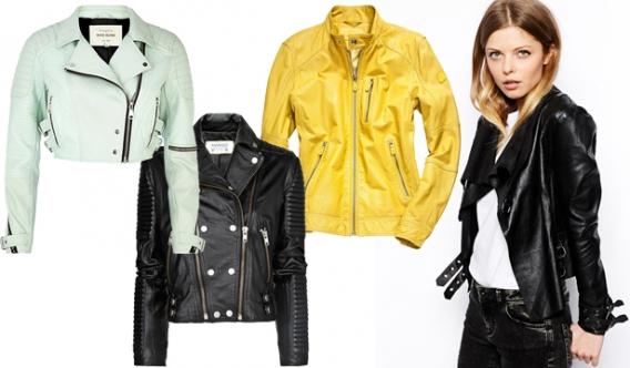 Кожаные куртки сезона весна лето 2014