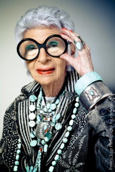 Айрис Апфель,  американский дизайнер, 93 года