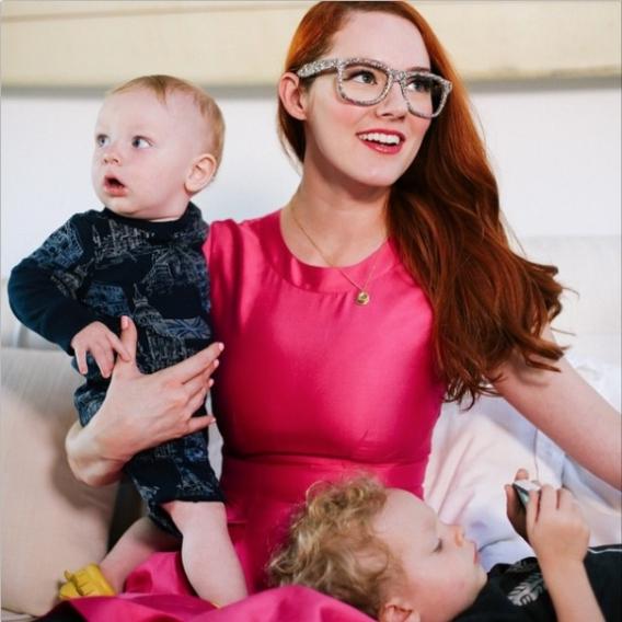 мама и сын блогер