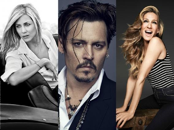 Как звезды снимаются в рекламе: Сара Джессика Паркер, Дженифер Энистон и Джонни Депп в промо июня