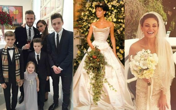 Свадебный курьер: молодожены Мила Кунис и Эштон Катчер, 16-тая годовщина Бекхэмов