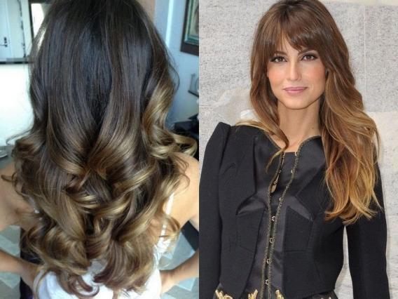 плавный переход цвета волос
