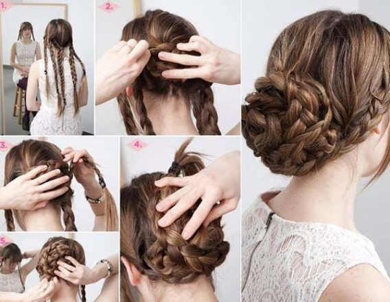 Красивые причёски для длинных волос своими руками инструкция
