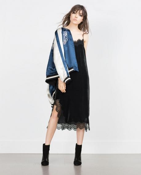Купить бархатное платье комбинацию