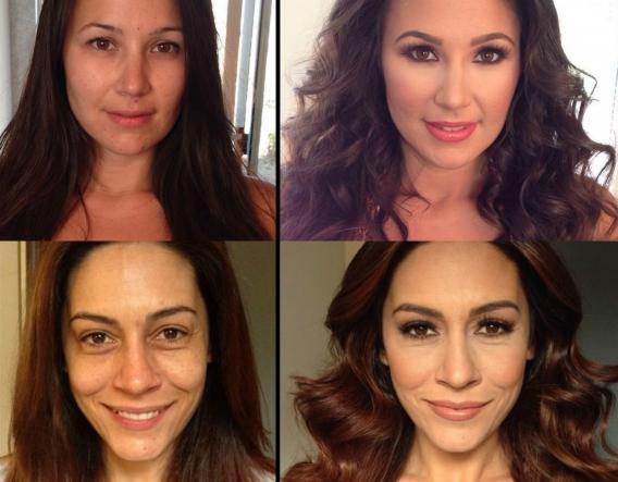 Макияж для всего лица фото до и после