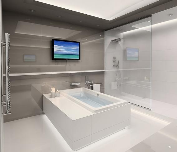 Минимализм интерьер ванной
